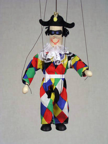 Arlequín marioneta titere
