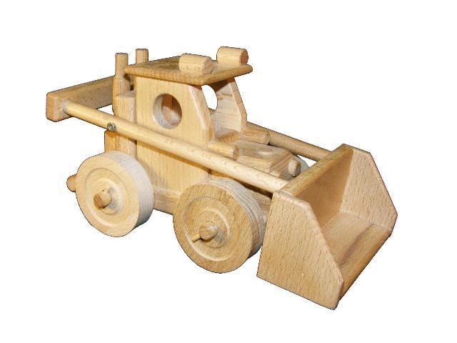 Cargador frontal de madera