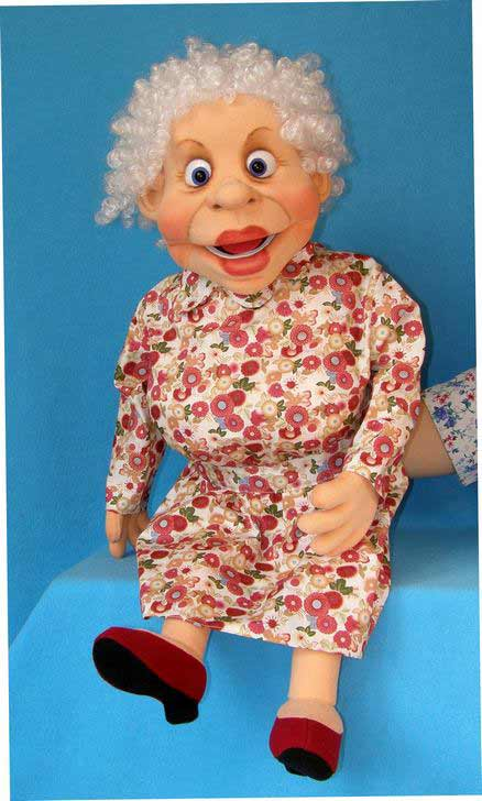 Abuela títere de espuma