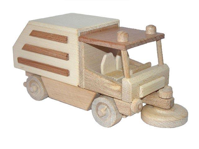 Automóvil barrendero de madera