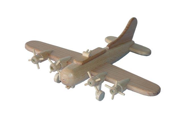 Bombardero B17 de madera