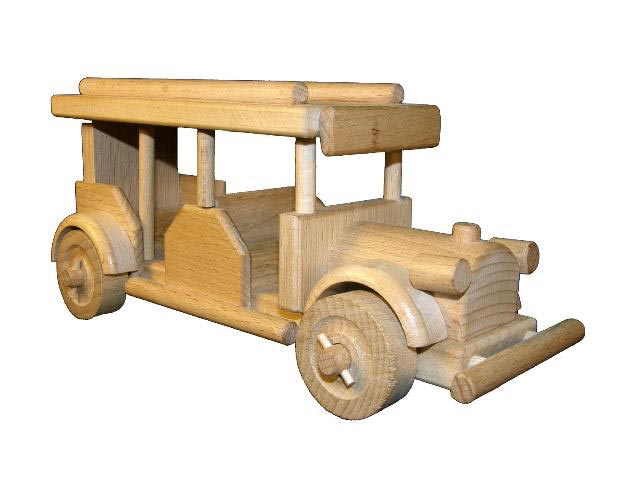 El bus retro de madera