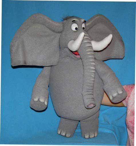 Elefante títere de espuma
