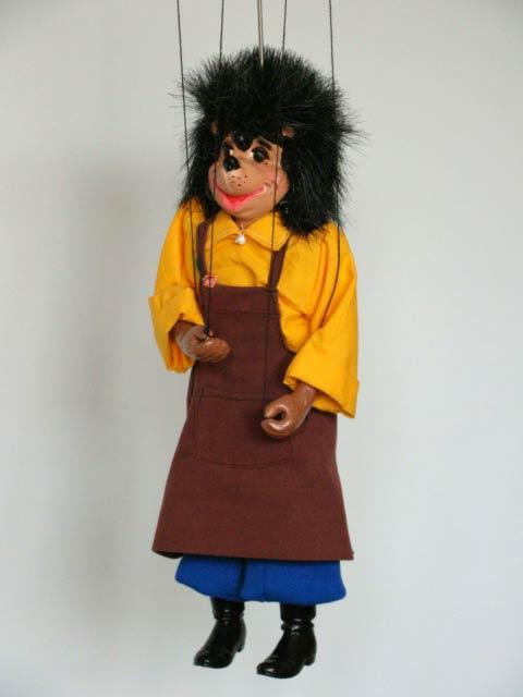 Erizo marioneta titere