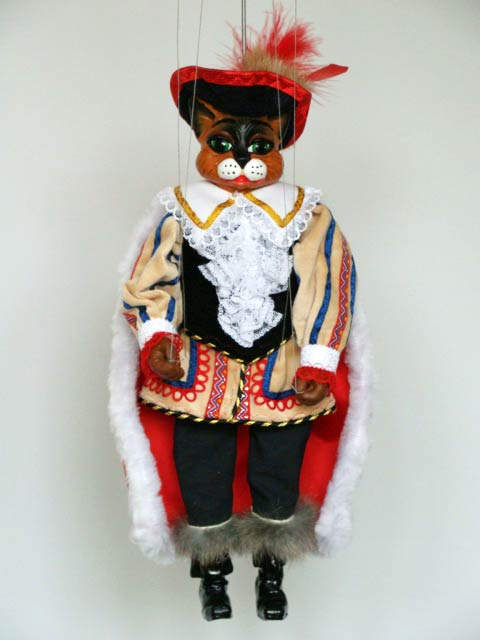 Gato con botas marioneta titere