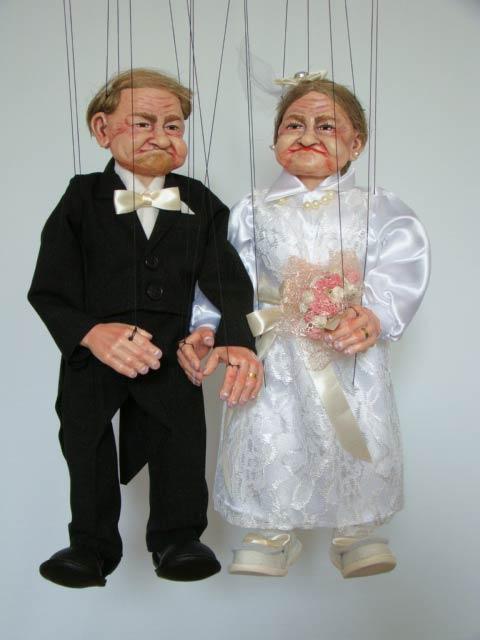 Novio y Novia marioneta