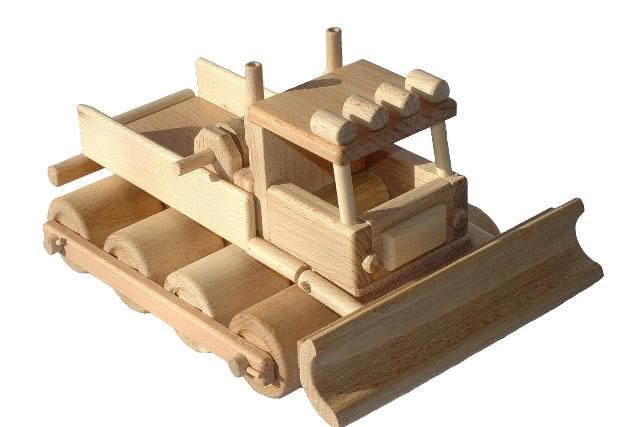 Buldócer de madera