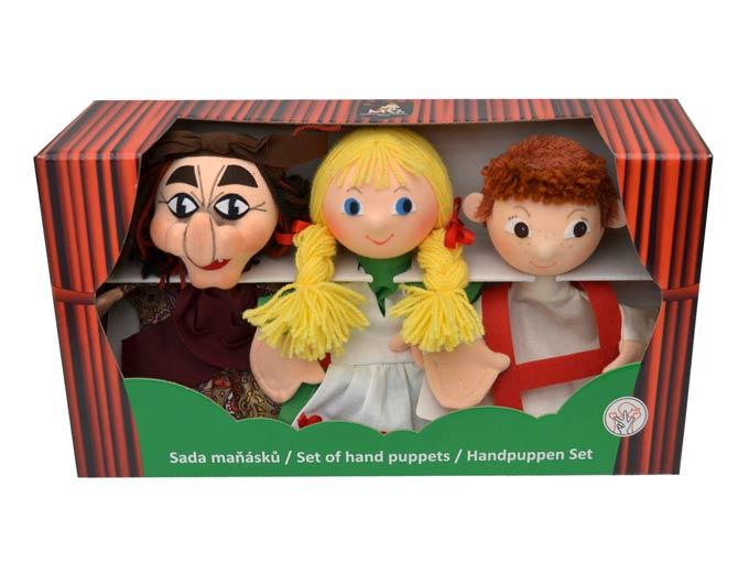 Conjunto Hansel y Gretel títeres de mano
