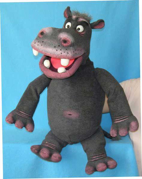 Hipopótamo títere de espuma