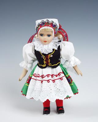 Jihoceska-blata , muñeca  en trajes nacionales