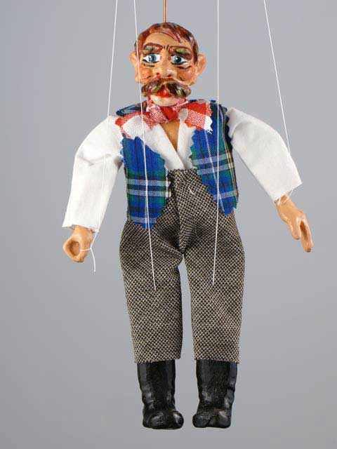 Leñador marioneta titere