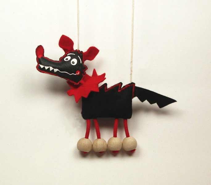 Lobo marioneta titere