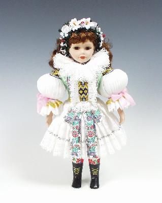 Novia Uhersky brod, muñeca en trajes nacionales