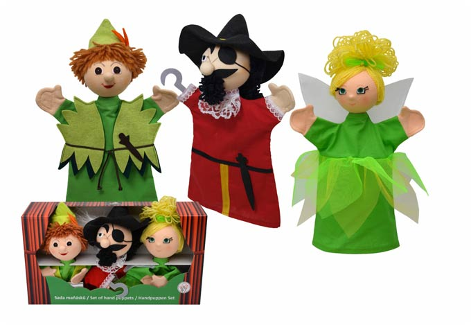 Conjunto Peter Pan títeres de mano