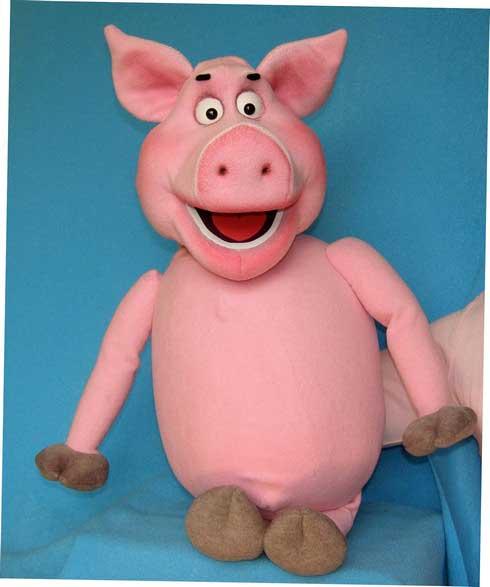Cerdo títere de espuma