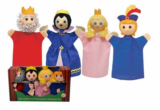 Conjunto Rey familia títeres de mano