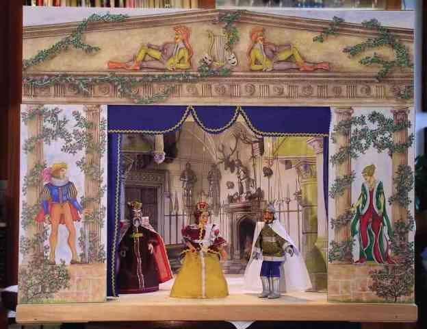 Teatro Marionetas de madera , 12 marionetas