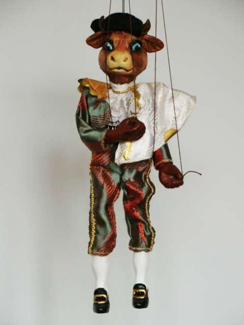Toro-torero marioneta titere