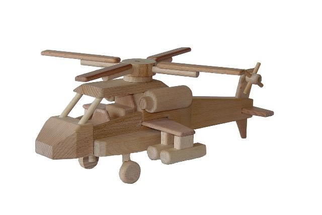 Helicóptero de madera