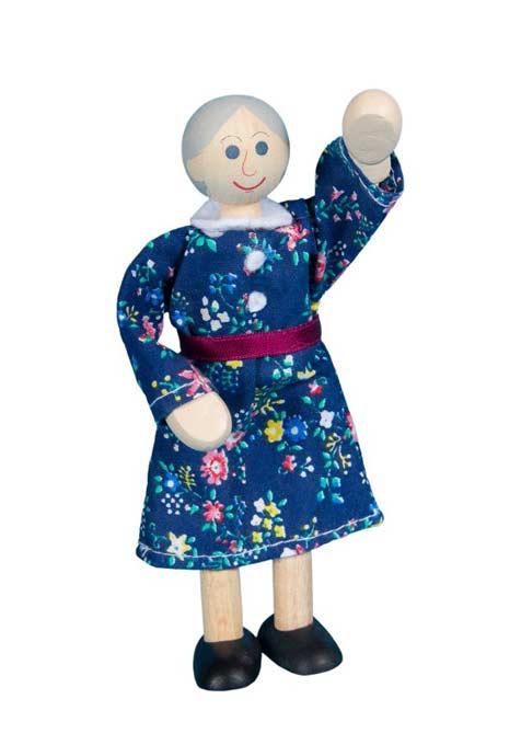 Abuela muñeca de madera