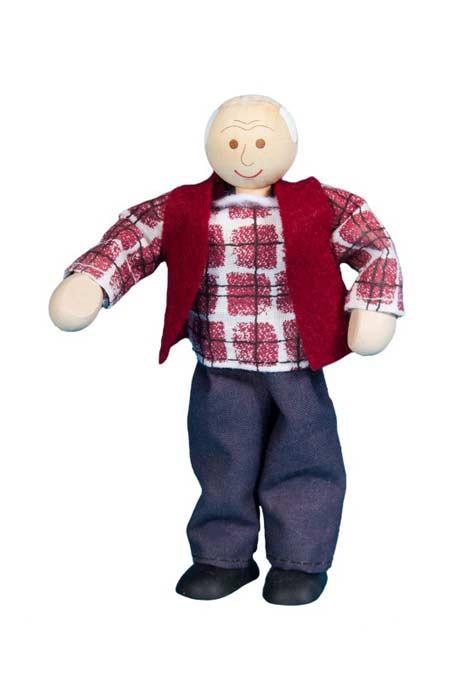 Abuelo muñeca de madera