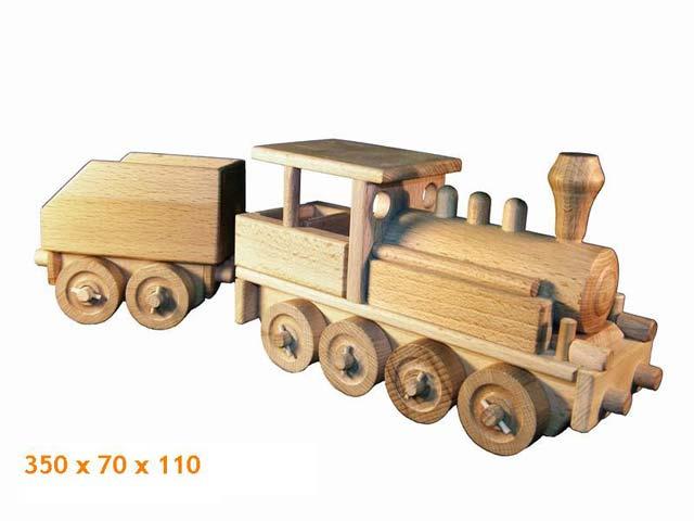 Locomotora de vapor de madera