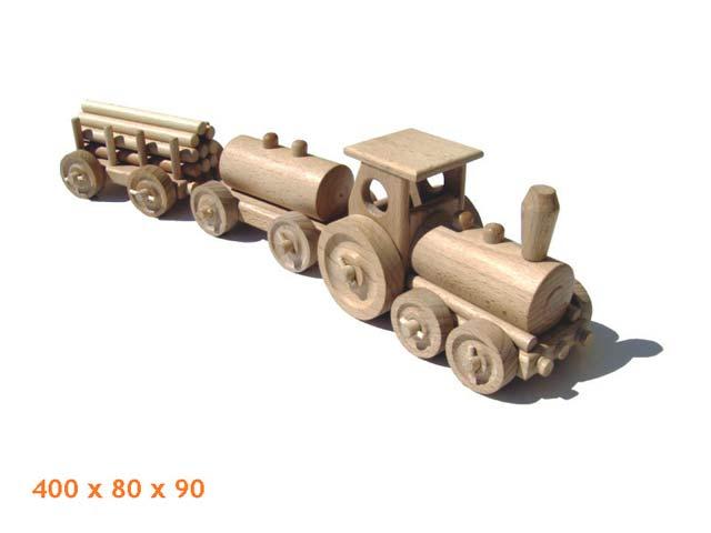 Tren de carga de madera