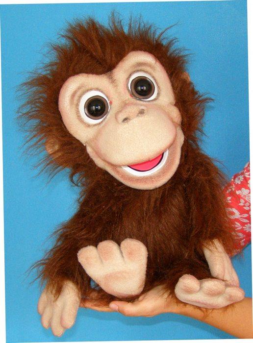 Orangután títere de espuma