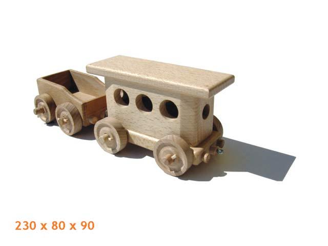 Vagón pasajero de madera