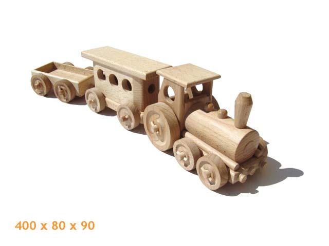 Tren personal de madera