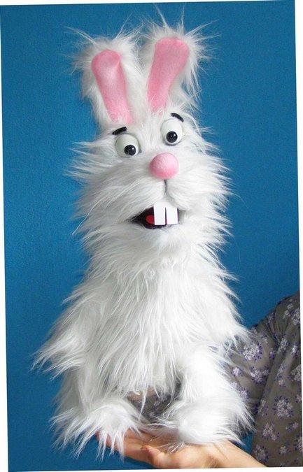 Conejo títere de espuma