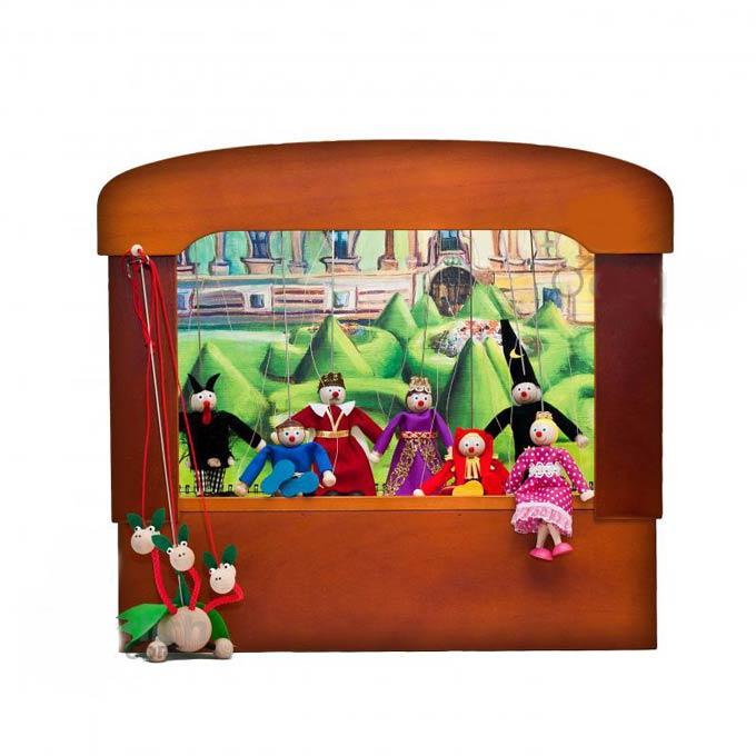 Teatro Marionetas de madera Retro