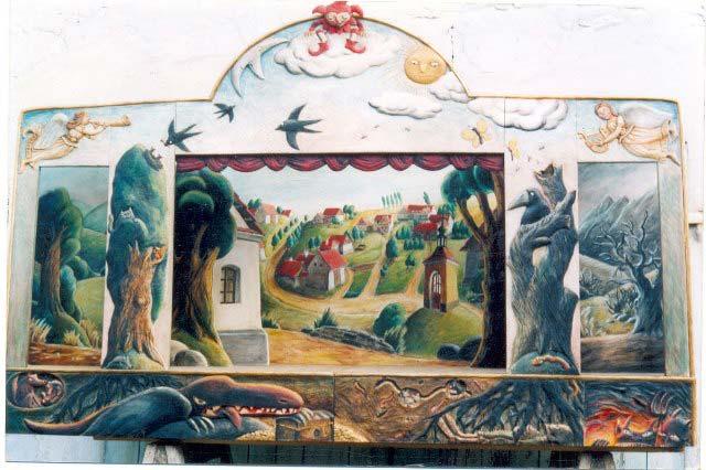 Teatro Marionetas de madera Bromista