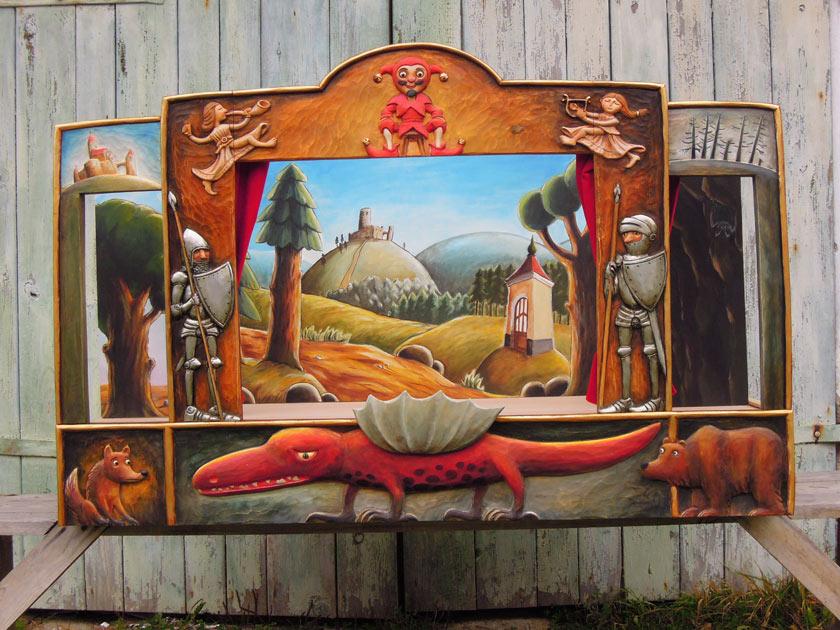 Teatro Marionetas de madera Dragón