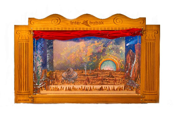 Teatro Marionetas de madera Grande