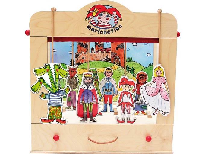 Teatro Marionetas de madera Casero