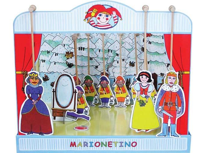 Teatro Marionetas cartón duro Blancanieves