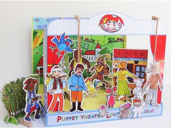 Teatro Marionetas cartón duro Fábulas