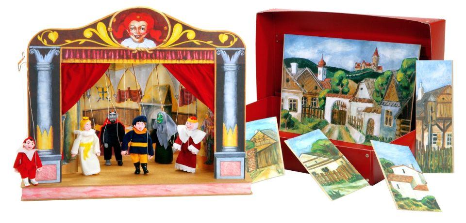 Teatro Marionetas cartón duro Estilo