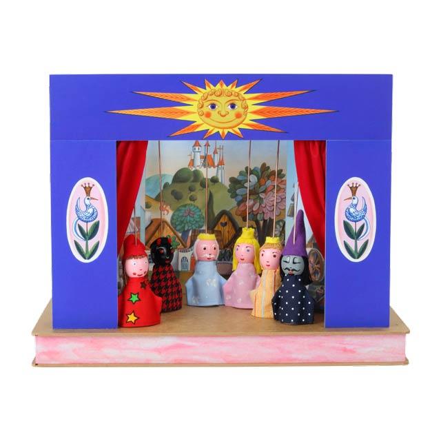 Teatro Marionetas cartón duro Prenda