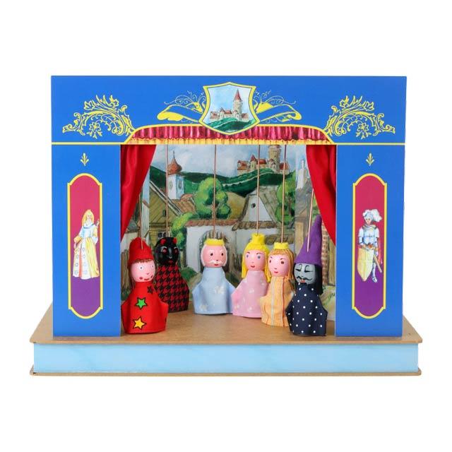 Teatro Marionetas cartón duro Castillo