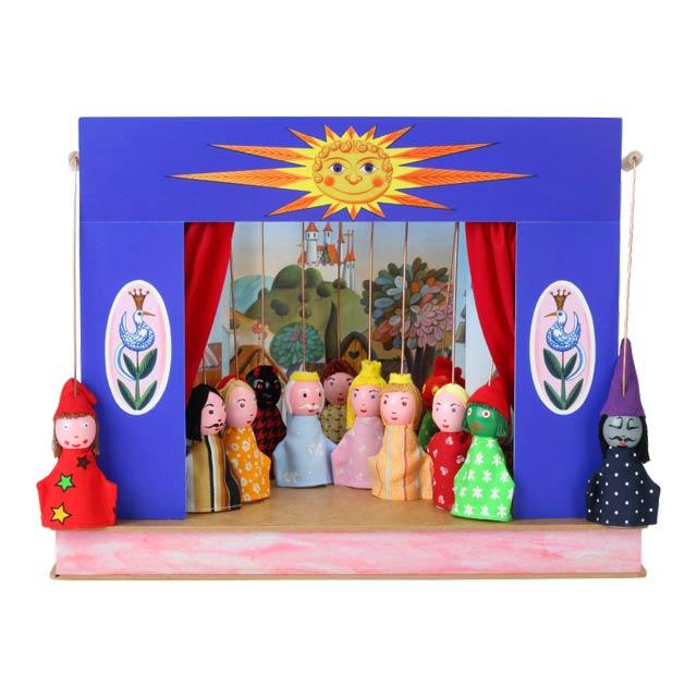Teatro Marionetas cartón duro Sol