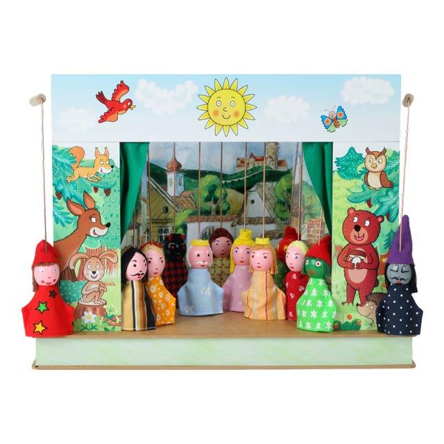 Teatro Marionetas cartón duro Selva