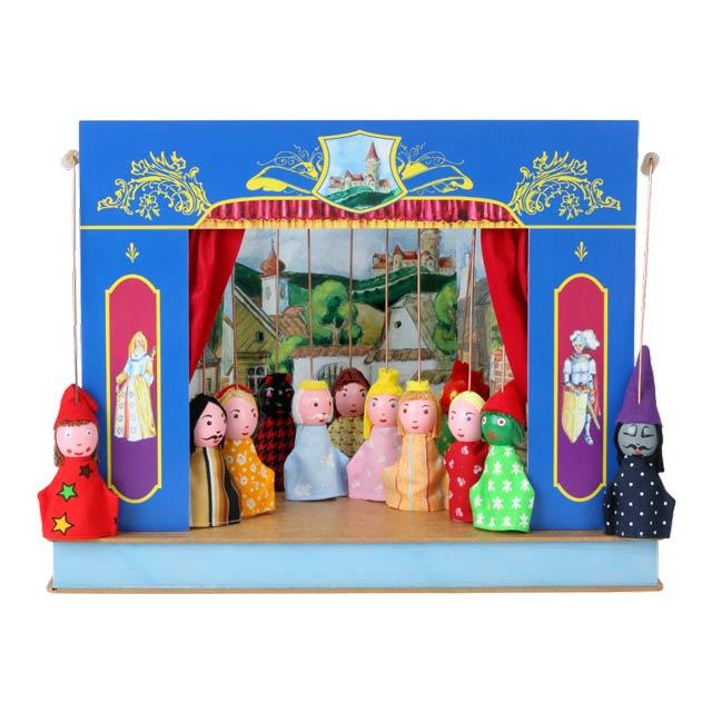 Teatro Marionetas cartón duro Palacio