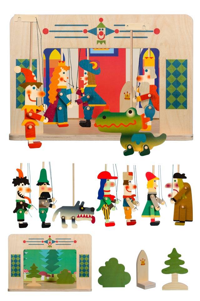 Teatro Marionetas de madera para regalar