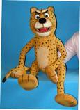 Leopardo títere de espuma