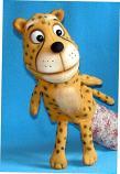 Leopardo mini títere de espuma